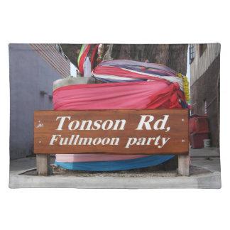 Tonson Rd. Fullmoon Party, Koh Phangan, Thailand Cloth Placemat