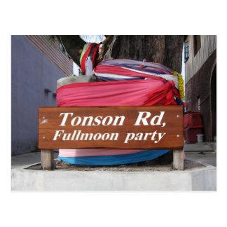 Tonson Rd. Fullmoon Party, Koh Phangan, Thailand Postcard