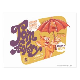 Tontería de Tom y Jerry Tom Tarjetas Postales