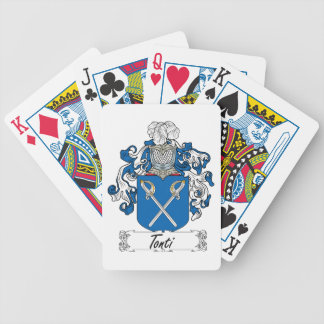 Tonti Family Crest Bicycle Card Decks