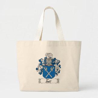 Tonti Family Crest Large Tote Bag