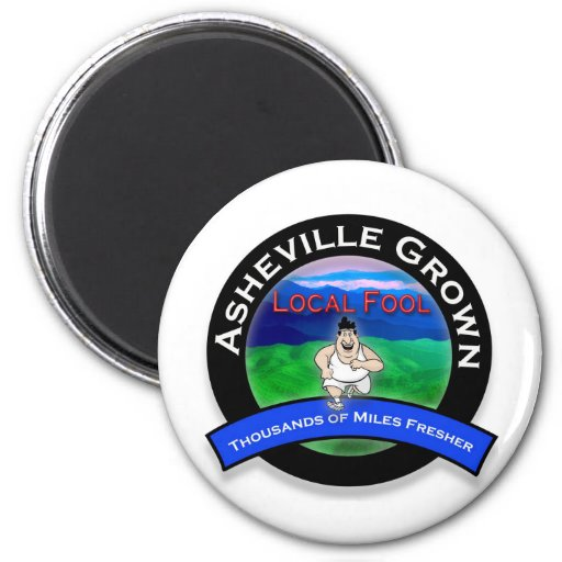 Tonto del Local de Asheville Imán Redondo 5 Cm