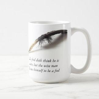 Tonto sabio de Shakespeare el | Taza De Café