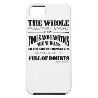 Tontos y fanáticos iPhone 5 Case-Mate protector