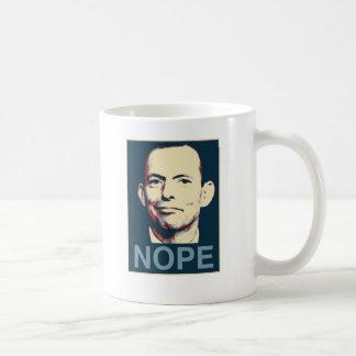 Tony Abbott Taza Básica Blanca
