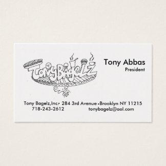 Tony Bagelz Biz Cards
