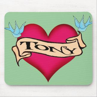 Tony - camisetas y regalos de encargo del tatuaje tapete de ratones