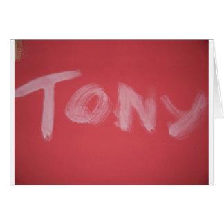 Tony Card