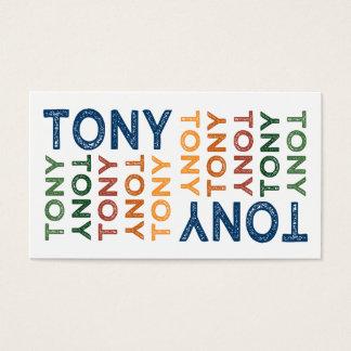 Tony Cute Colorful Business Card