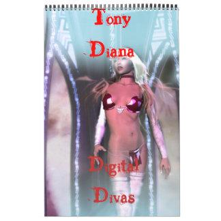 Tony Diana: Diva de Digitaces Calendarios De Pared