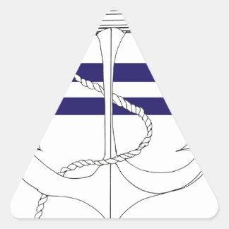Tony Fernandes 2 blue stripe anchor Triangle Sticker