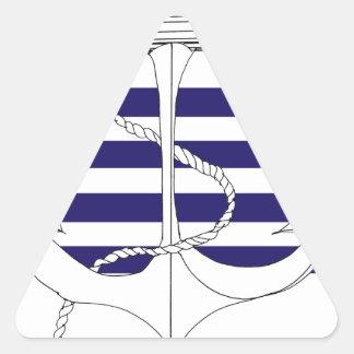 Tony Fernandes 4 blue stripe anchor Triangle Sticker