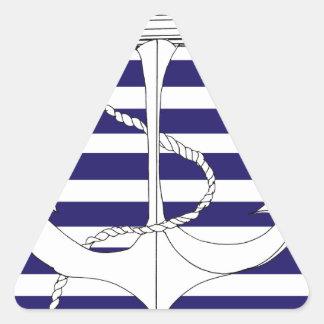 Tony Fernandes 6 blue stripe anchor Triangle Sticker