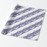 Tony Fernandes 6 blue stripe anchor Wrapping Paper