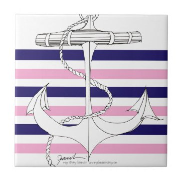 Tony Fernandes 6 mix stripe anchor Tile