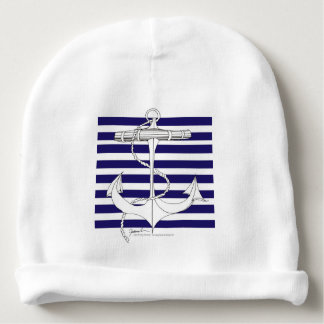 Tony Fernandes 8 blue stripe anchor Baby Beanie