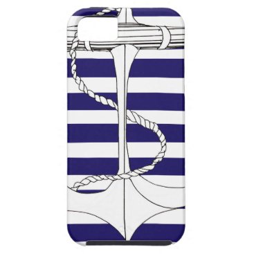 Beach Themed Tony Fernandes 8 blue stripe anchor iPhone SE/5/5s Case