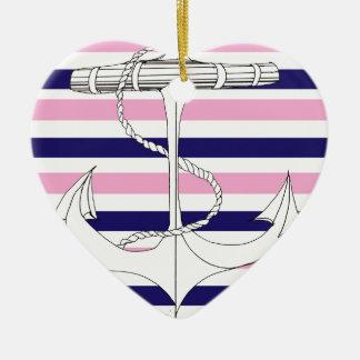 Tony Fernandes 8 mix stripe anchor Ceramic Ornament