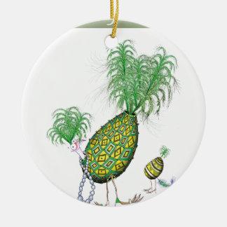 tony fernandes, green suits you ceramic ornament