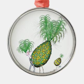 tony fernandes, green suits you metal ornament