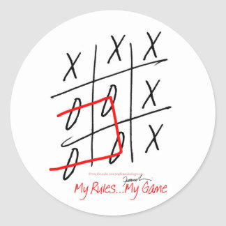 tony fernandes, it's my rule my game (7) classic round sticker