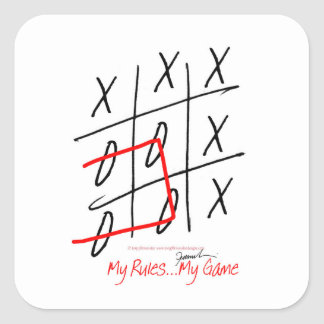tony fernandes, it's my rule my game (7) square sticker