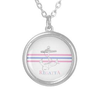tony fernandes, regatta 6 silver plated necklace