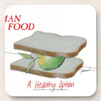 Tony Fernandes's Man Food - a healthy option Coaster