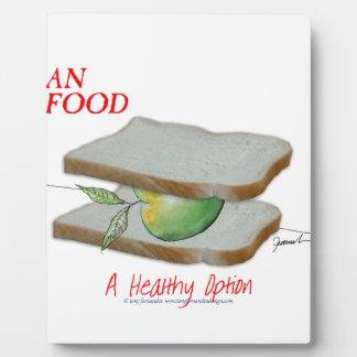 Tony Fernandes's Man Food - a healthy option Plaque