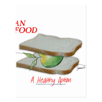 Tony Fernandes's Man Food - a healthy option Postcard