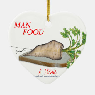Tony Fernandes's Man Food - a picnic Ceramic Ornament
