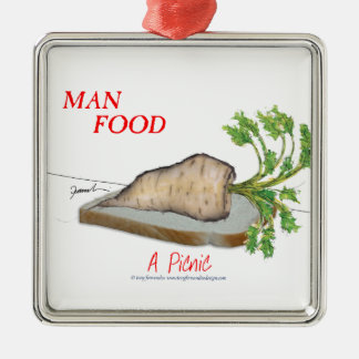 Tony Fernandes's Man Food - a picnic Metal Ornament