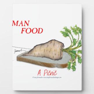 Tony Fernandes's Man Food - a picnic Plaque