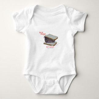 Tony Fernandes's Man Food - beef sandwich Baby Bodysuit