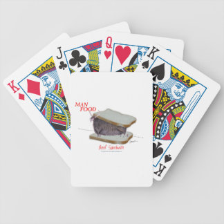 Tony Fernandes's Man Food - beef sandwich Bicycle Playing Cards