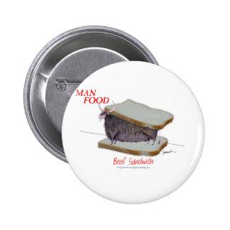Tony Fernandes's Man Food - beef sandwich Button