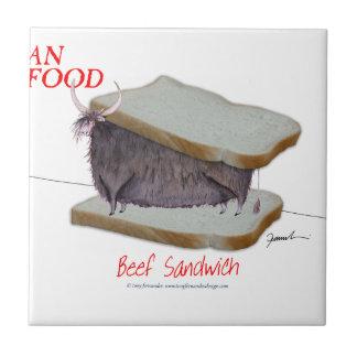 Tony Fernandes's Man Food - beef sandwich Tile