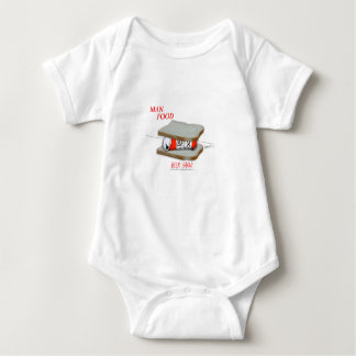 Tony Fernandes's Man Food - beer sarni Baby Bodysuit
