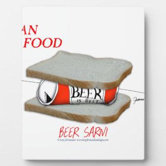 Tony Fernandes's Man Food - beer sarni Plaque
