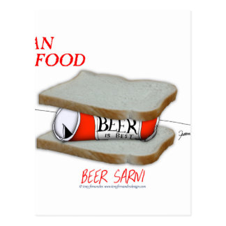 Tony Fernandes's Man Food - beer sarni Postcard