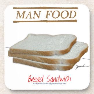 Tony Fernandes's Man Food - bread sandwich Beverage Coaster