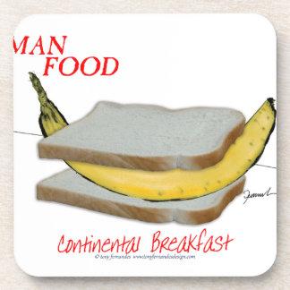 Tony Fernandes's Man Food - continental breakfast Beverage Coaster