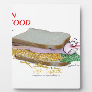 Tony Fernandes's Man Food - fish supper Plaque
