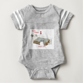 Tony Fernandes's Man Food - midnight snack Baby Bodysuit
