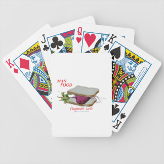 Tony Fernandes's Man Food - ploughmans lunch Bicycle Playing Cards
