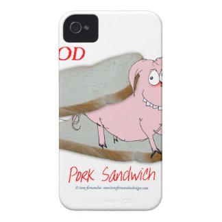 Tony Fernandes's Man Food - pork sandwich iPhone 4 Case-Mate Case
