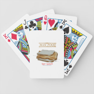 Tony Fernandes's Man Food - toast sandwich Bicycle Playing Cards