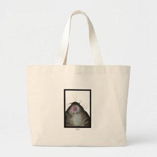 tony fernandes's black cat snap large tote bag
