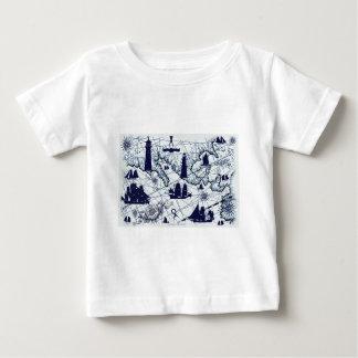 tony fernandes's blue map 2 baby T-Shirt