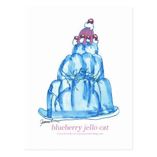 tony fernandes's blueberry jello cat postcard